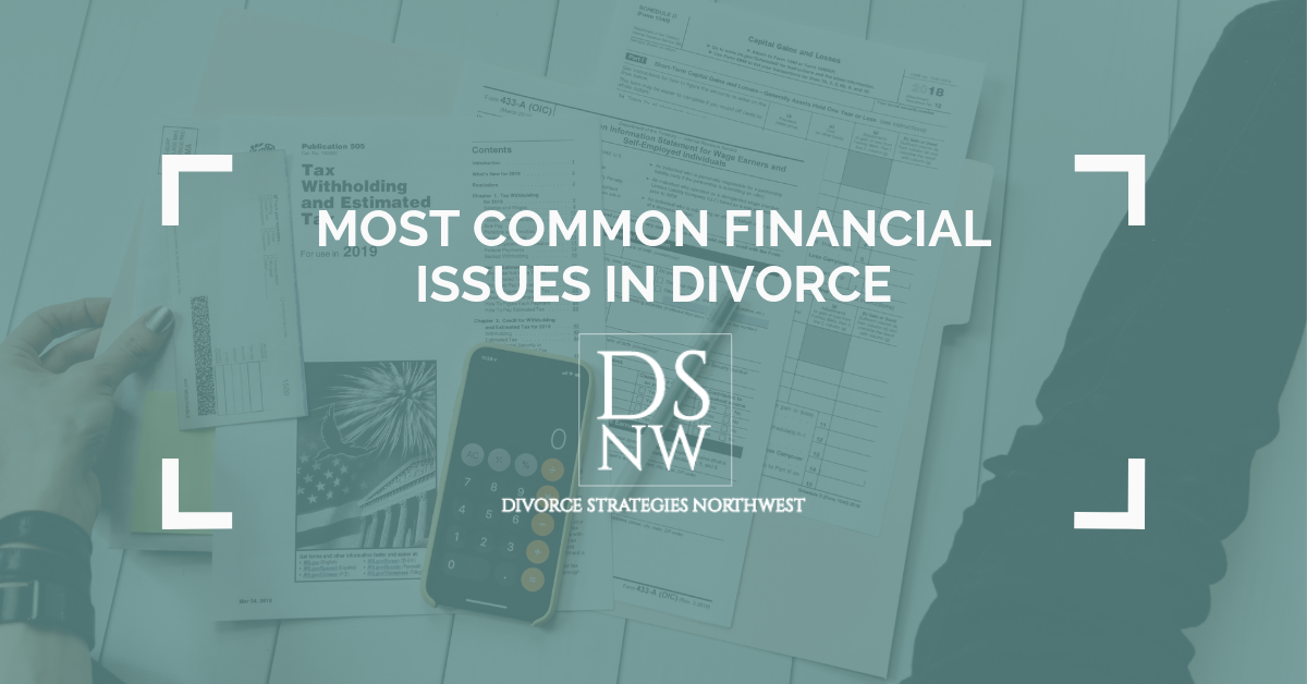 Most Common Financial Issues During Divorce | Divorce Strategies NW