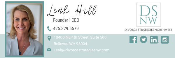 Leah Hill Email Signature | Divorce Strategies NW